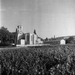 Eglise détruite et baraquement pour sinistrés